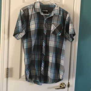 Zoo work short sleeve button up, medium
